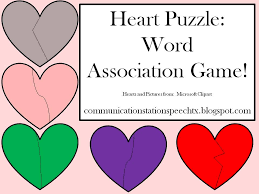 Microsoft Word Hearts Freebie Friday Heart Puzzle Word Association Game