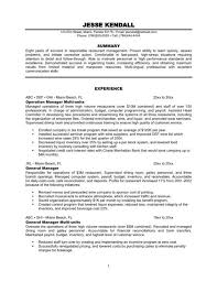 example of restaurant resume resume example restaurant military bralicious co