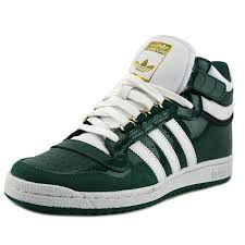 adidas concord 2 0 mid men round toe patent leather green sneakers