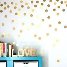 mini gold polka dots wall sticker vinyl interesting art nursery dot decals for kids room home gold polka dot wall decals