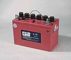 Gill G35 Battery With 3 Qts Acid G35d