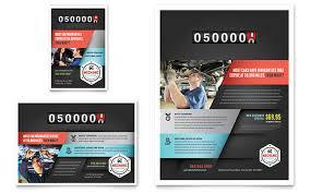 Auto Repair Flyer Auto Mechanic Flyer Template Design