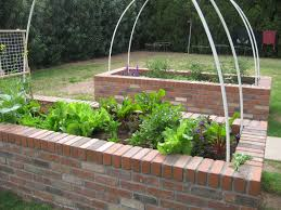 Small Picture brick raised bed vegetable garden Garden Pinterest Raised