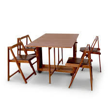 compact folding four seater dining set walnut in india in folding dining table sets