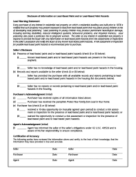 ohio lead based paint disclosure form bill of sale form georgia lead based paint disclosure form templates