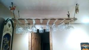hanging glass rack hanging glass rack racks for bars wood wine and home improvement exciting hanging