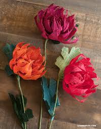 Making Flower Using Crepe Paper Crepe Paper Mums How To Make Paper Flowers For Fall