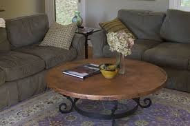 hammered round coffee copper table mexican home decor projects gallery