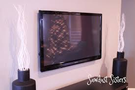 how to mount flat screen tv and hide cords inside the wall full tutorial at