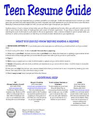 Resume Templates For High School Students With No Work Experience