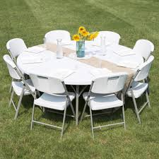 Fold In Half Round Table Round Folding Table 72 Heavy Duty Plastic White Granite
