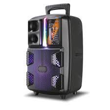 Bộ Loa Kéo Di Động Bluetooth Không Dây Kimiso Qs-2805 Kèm Micro Có Dây , Âm  Thanh Chất Lương Cao, Âm Bass Hay
