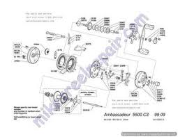 ambassadeur 5500c3 99 09 okuma reel parts online at Okuma Reel Parts Diagram