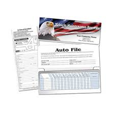 Car Maintenance Record Auto File Patriotic Vehicle Maintenance Record