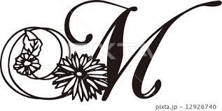 Chrysanthemum M Decorative Alphabetのイラスト素材 12926740 Pixta
