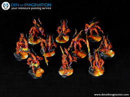 Hounds of Fire ~ DEN OF IMAGINATION Miniature Painting Service