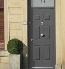 grey front doorKeep it classy with a classic front door  K Glazing Ltd