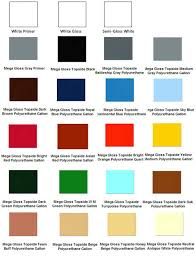 Brightside Marine Paint Color Chart Aluminum Boat Paint Color Chart Model Canal Boat Plans