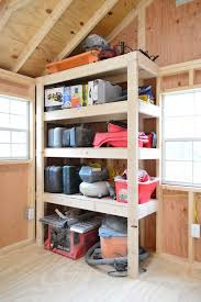 these diy garage shelves are what you need to make organizing your garage space a whole lot easier lots of step by step instructions and photos