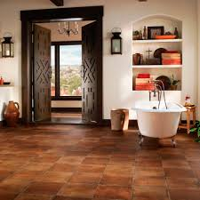 Vinyl flooring / residential / strip / polished - SPANISH SALTILLO: REDWARE
