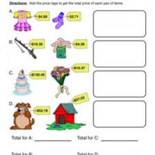 Money Worksheets - Have Fun TeachingFind the Total Price – Adding Money Worksheet 1