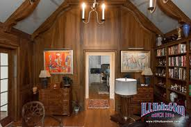 faux bois wood paneling
