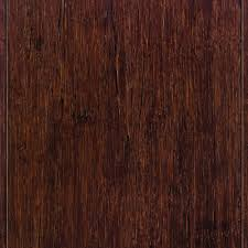 home legend strand woven espresso 9 16 in thick x 4 3 4 in wide x 36 in length solid t g bamboo flooring 19 sq ft case hl200 the