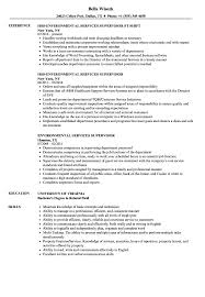 Sample Resume For Environmental Services Environmental Services Supervisor Resume Samples Velvet Jobs 19