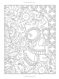 Day Of The Dead Printable Coloring Pages Day Of The Dead Coloring