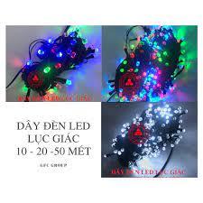 Dây đèn LED nhiều màu 10m / 20m hoặc 50m bóng lục giác chống nước - Đèn  trang trí