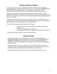 Personal Financial Statement Form Template Data Planning Gathering ...