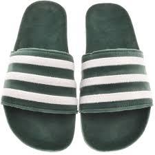 adidas flip flops. adidas originals adilette velvet flip flops green