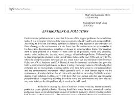 essay environmental pollution solut