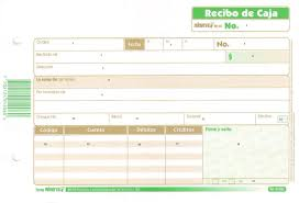 Formato De Recibos Documentos Comerciales Recibo De Caja