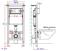 Wall Mounted Toilet Installation Diagram For A Hung Mount Geberit Parts  Plumbing Support Bracket