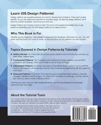 Ios Design Patterns Book Design Patterns By Tutorials Learning Design Patterns In