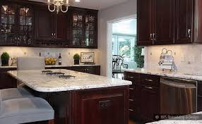 kitchen backsplash cherry cabinets black counter. Painted Kitchen Cabinet Ideas And Makeover Reveal The Green Glass Backsplash Cherry Cabinets Black Counter
