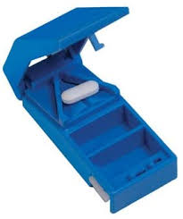Aidapt Lockable Pill <b>Cutter and</b> Storer Ideal for <b>Cutting</b> Large Tablets ...