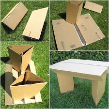 how to make cardboard furniture. Make Cardboard Furniture: Tutorial On How To Flat Pack Up-cycled Table \u0026 Chair, With Lots Of Tips Construction Design! Furniture .