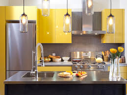 Yellow Kitchen White Cabinets Modern Gray And Yellow Kitchen Ideas Unique Pendant Lights Black