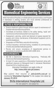 Biomedical Engineering Job Description Biomedical Engineering Job At Shifa International 19