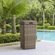 inch outdoor wicker trash can co7306 wb