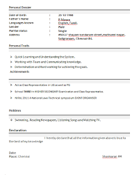 B Pharmacy Resume Format For Freshers Unique New Resume Format For