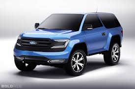 The Concept 2019-2020 Ford Bronco Front Spy Shot