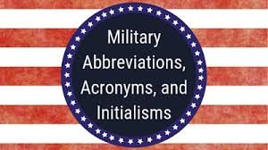 They are listed on the left below. Military Abbreviations Acronyms Officer Assignments