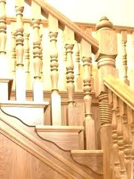 wooden stair railing with glass designing wooden banisters for stairs dark wood stair full spindles