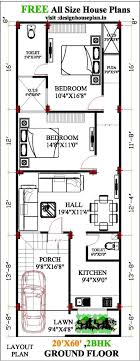 by 60 ft house plans 20x60 house plan