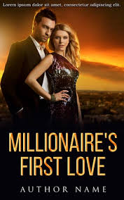 romance book cover design millionaires first love front