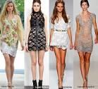 Кружева на платье модное