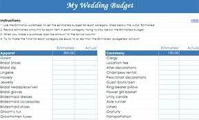 Sample Wedding Budget Spreadsheet Wedding Estimate Template Wedding Budget Template